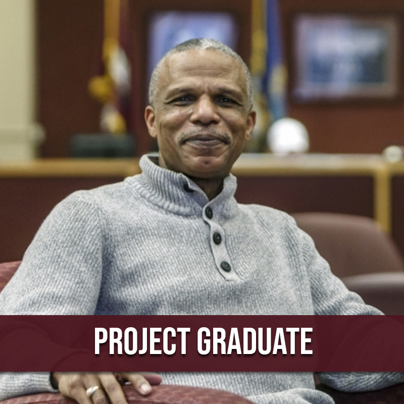 Adult student who completed his degree through Project Graduate.